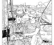 Coloriage et dessins gratuit Tableau Monet en ligne à imprimer