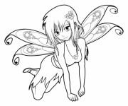 Coloriage Fille Manga 33