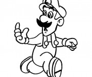 Coloriage Luigi court