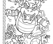 Coloriage Nintendo Bowser