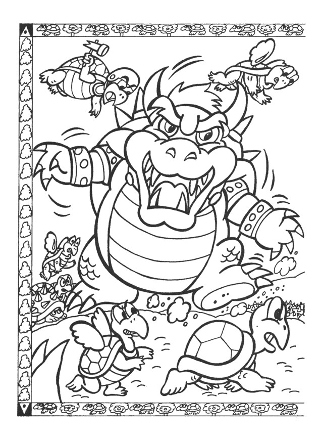 Coloriage et dessins gratuits Nintendo Bowser à imprimer