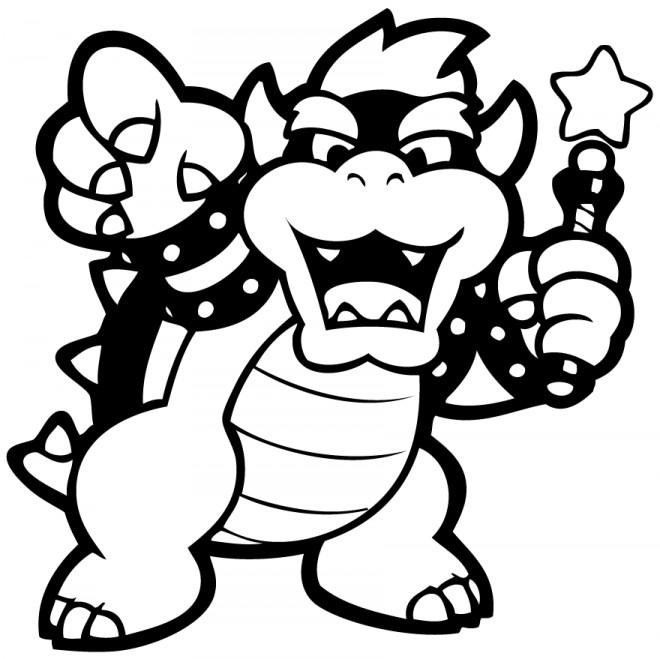Coloriage et dessins gratuits Nintendo Bowser vecteur à imprimer
