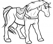 Coloriage Nintendo Cheval