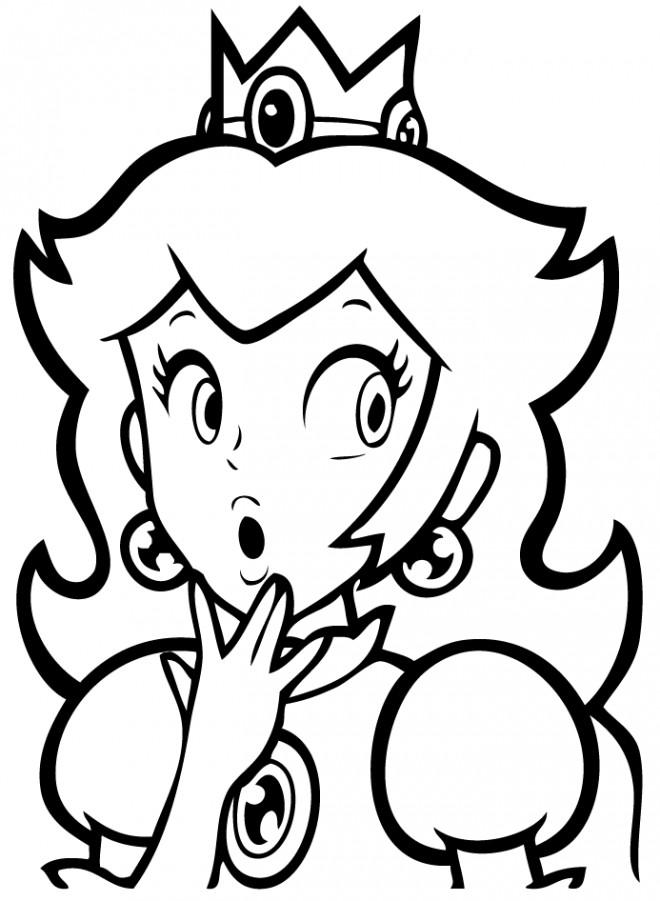 Coloriage et dessins gratuits Nintendo Daisy à imprimer