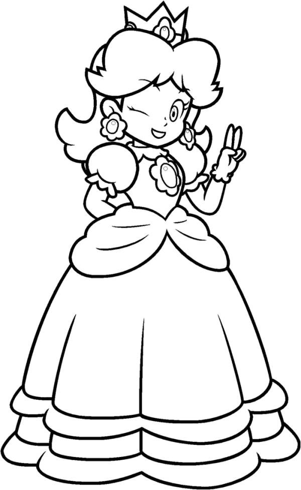 Coloriage et dessins gratuits Nintendo Daisy en vecteur à imprimer