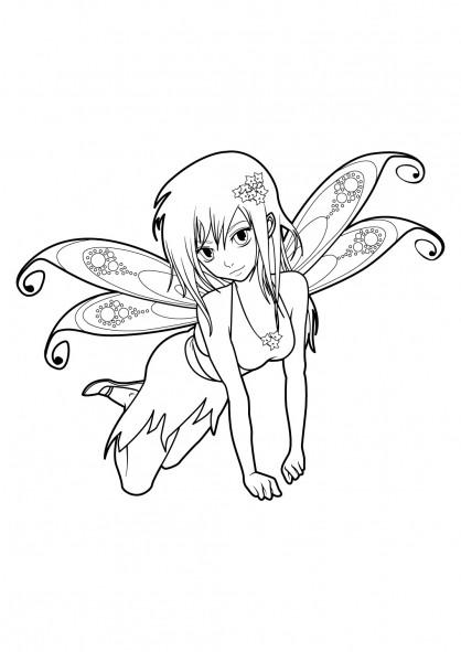 Coloriage et dessins gratuits Nintendo Fille Manga à imprimer
