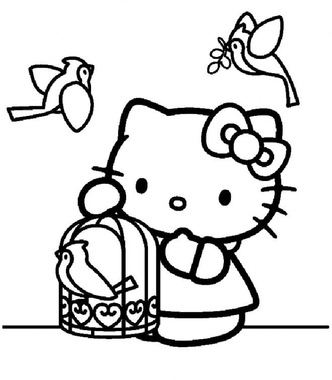 Coloriage et dessins gratuits Nintendo Hello Kitty à imprimer
