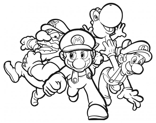 Coloriage et dessins gratuits Nintendo Jeux vidéo Super Mario à imprimer