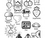 Coloriage et dessins gratuit Nintendo Les Amis de Mario à imprimer