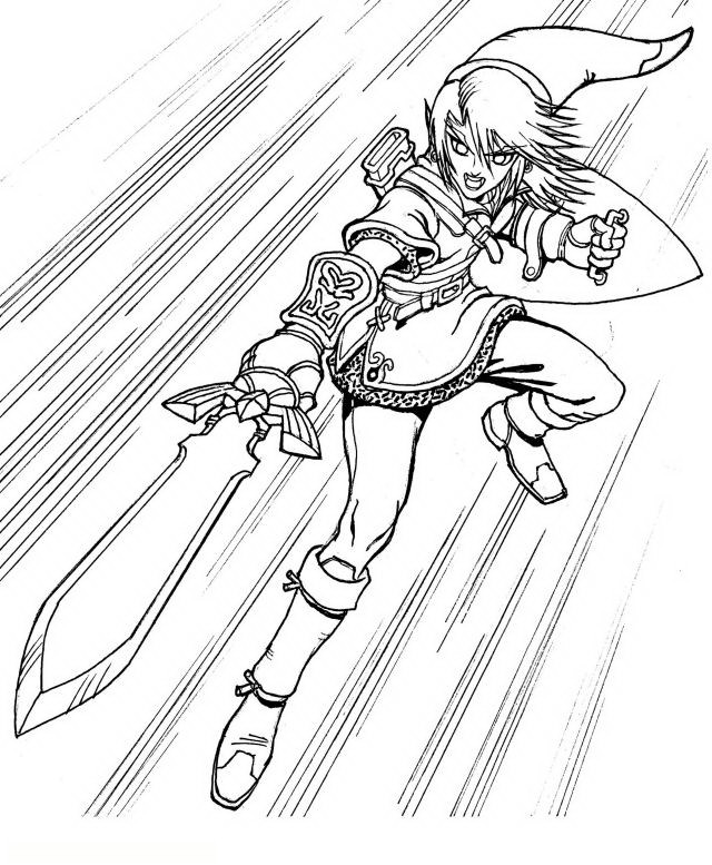Coloriage et dessins gratuits Nintendo Link Jeu Vidéo à imprimer