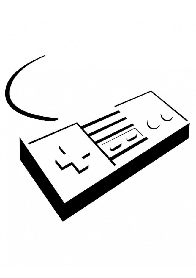 Coloriage et dessins gratuits Nintendo Manette à imprimer
