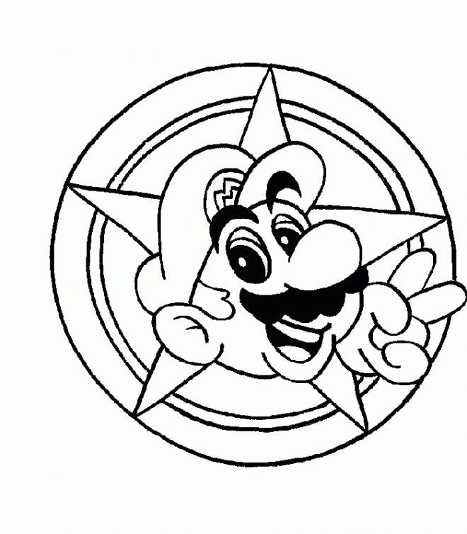 Coloriage et dessins gratuits Nintendo Mario à imprimer