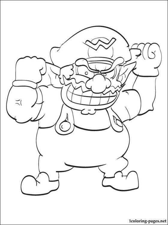 Coloriage et dessins gratuits Nintendo Mario enervé à imprimer