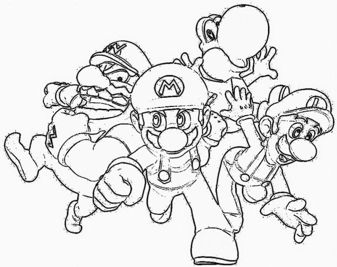 Coloriage et dessins gratuits Nintendo Mario Luigi et Wario à imprimer