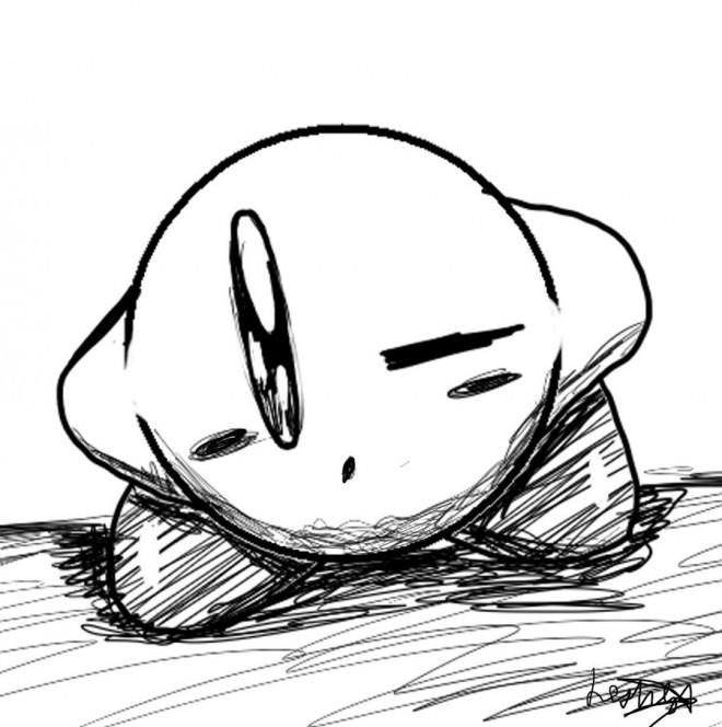 Coloriage et dessins gratuits Nintendo Personnage au crayon à imprimer