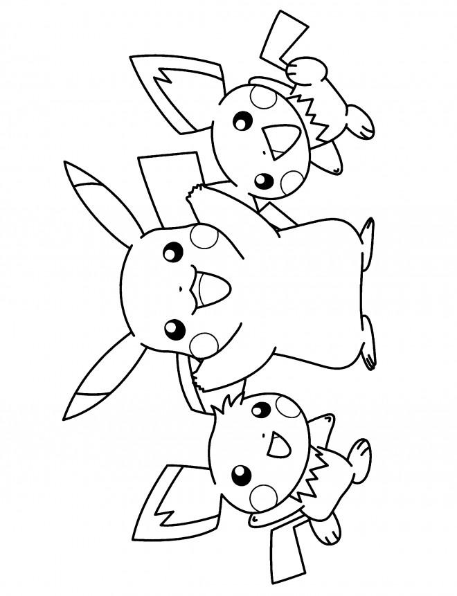 Coloriage et dessins gratuits Nintendo Pikachu en couleur à imprimer