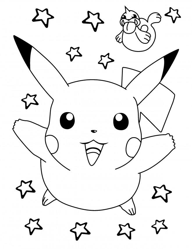 Coloriage et dessins gratuits Nintendo Pokémon Pikachu à imprimer