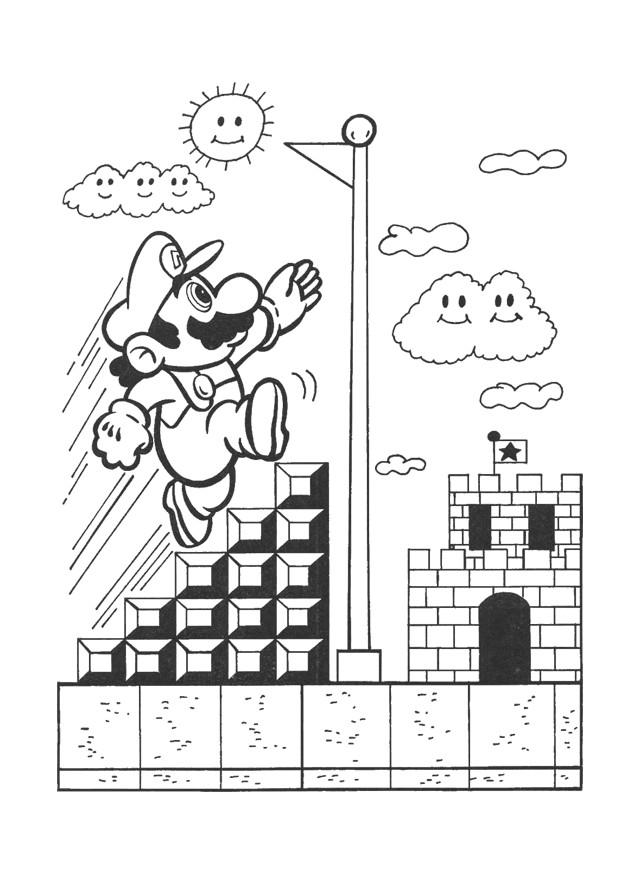 Coloriage et dessins gratuits Nintendo Super Mario Jeu vidéo à imprimer