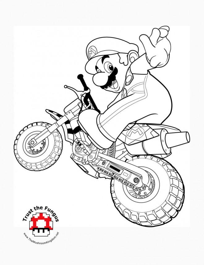 Coloriage et dessins gratuits Nintendo Super Mario maternelle à imprimer