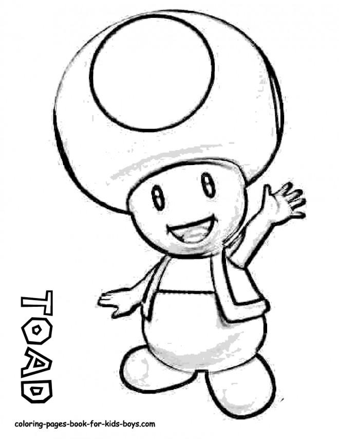 Coloriage et dessins gratuits Nintendo Toad à imprimer