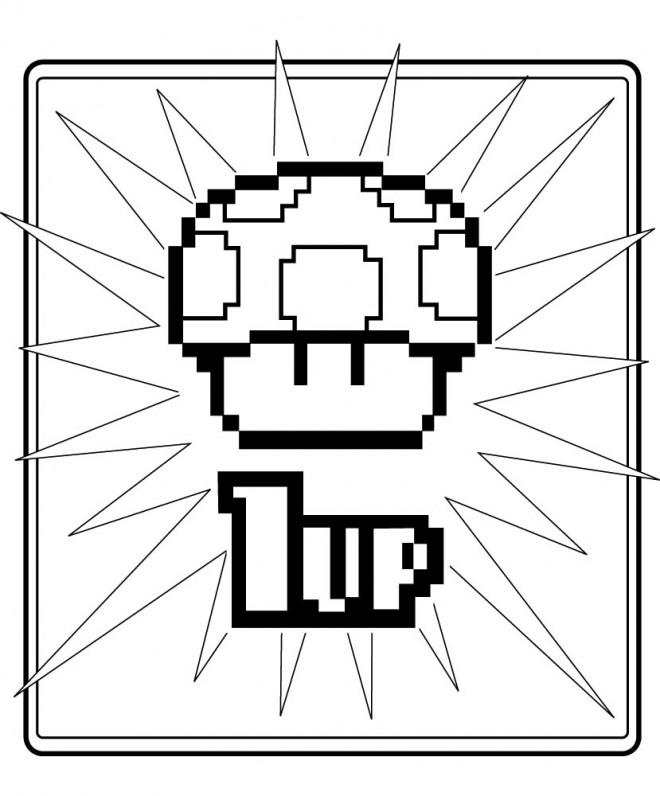 Coloriage et dessins gratuits Nintendo Toad pour enfant à imprimer