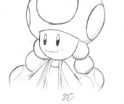 Coloriage et dessins gratuit Nintendo Toad stylisé à imprimer