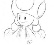 Coloriage Nintendo Toad stylisé