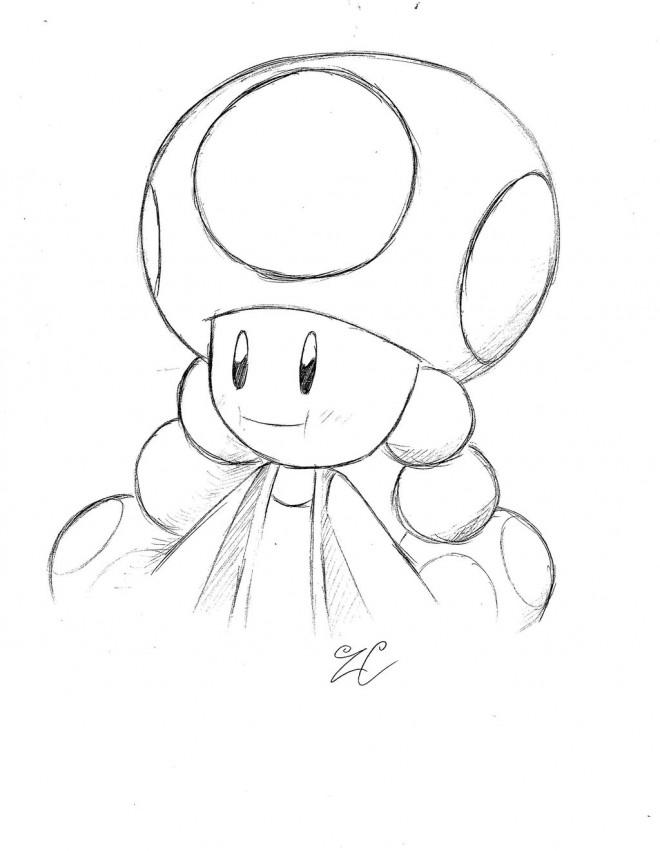 Coloriage nintendo toad stylis dessin gratuit imprimer - Toad coloriage ...