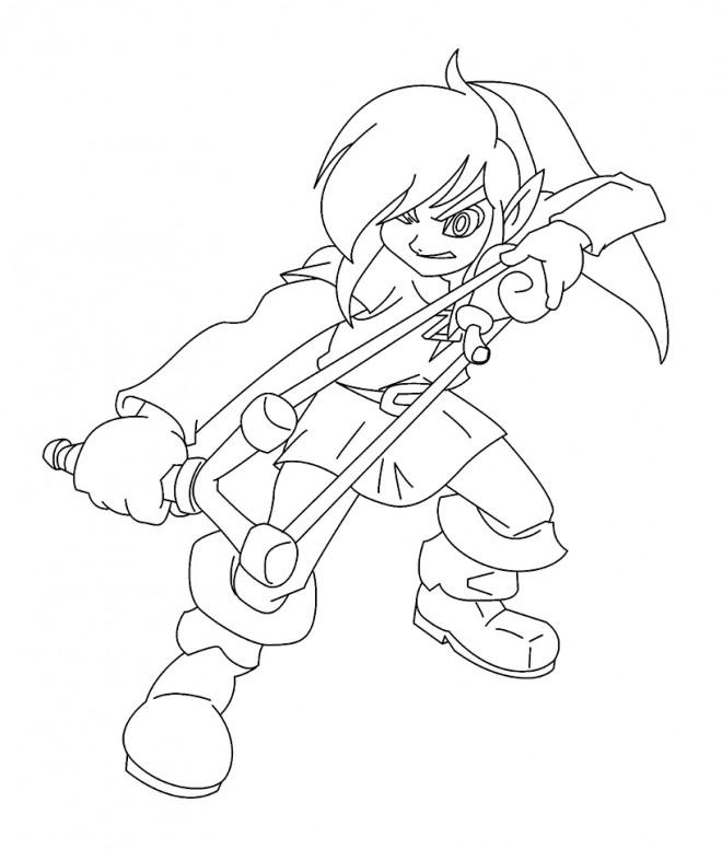 Coloriage et dessins gratuits Nintendo Zelda à imprimer