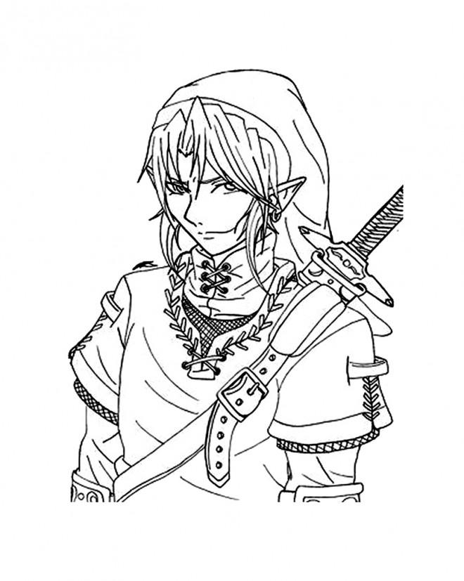 Coloriage et dessins gratuits Nintendo Zelda en ligne à imprimer