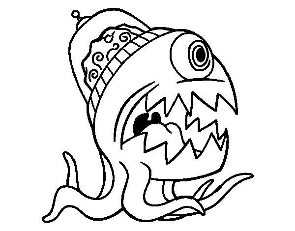 Coloriage et dessins gratuits Alien Bizarre à imprimer