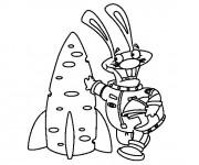 Coloriage et dessins gratuit Cosmonaute humoristique à imprimer