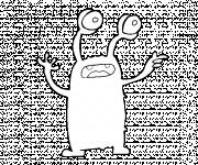 Coloriage et dessins gratuit Extraterrestre magique à imprimer