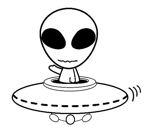 Coloriage et dessins gratuits Extraterrestre Ovnis à imprimer