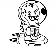 Coloriage et dessins gratuit Extraterrestre qui fait rire à imprimer
