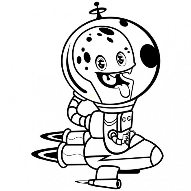 Coloriage et dessins gratuits Extraterrestre qui fait rire à imprimer