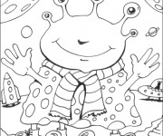 Coloriage et dessins gratuit Extraterrestre rigolo à imprimer