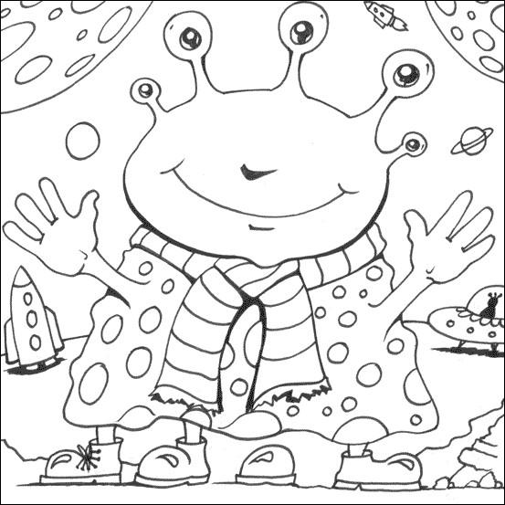Coloriage et dessins gratuits Extraterrestre rigolo à imprimer