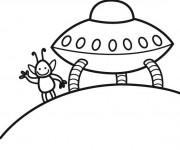 Coloriage et dessins gratuit Navette Spatiale d'un extraterrestre à imprimer