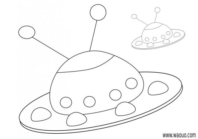 Coloriage et dessins gratuits Ovnis avec des Antennes à imprimer