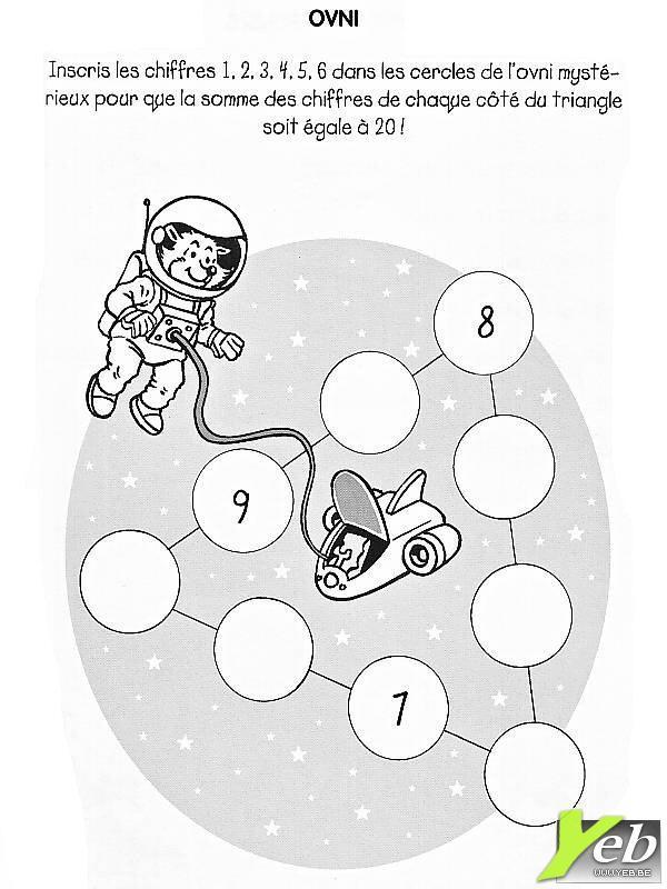 Coloriage et dessins gratuits Ovnis Chiffres et Cercles à imprimer