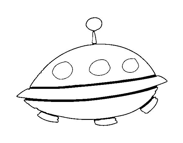 Coloriage et dessins gratuits Ovnis dessin animé à imprimer