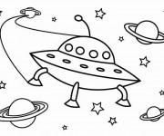 Coloriage et dessins gratuit Ovnis et L'univers à imprimer
