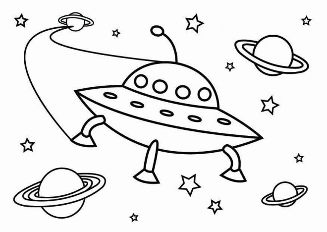 Coloriage et dessins gratuits Ovnis et L'univers à imprimer