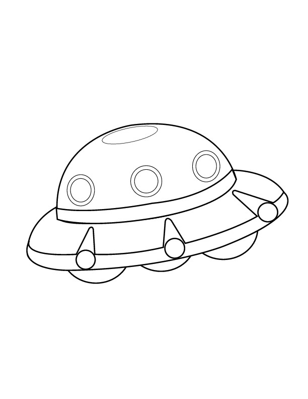 Coloriage et dessins gratuits Ovnis facile à imprimer