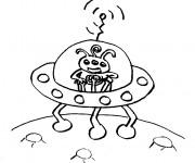 Coloriage et dessins gratuit Ovnis pour Enfant à imprimer