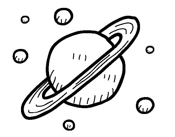 Coloriage et dessins gratuits Planète Saturne à imprimer