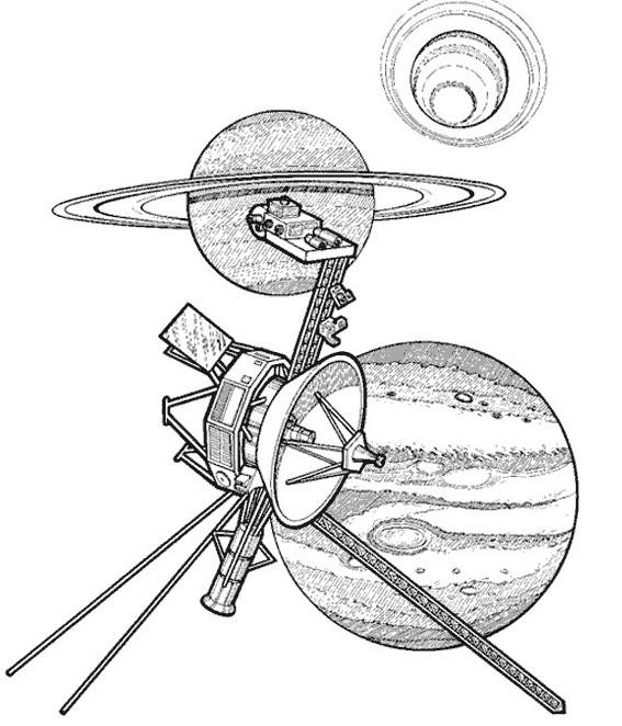 Coloriage et dessins gratuits Satellite Discovery à imprimer