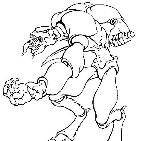 Coloriage et dessins gratuits Un Alien effrayant à imprimer