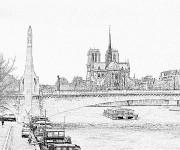 Coloriage Image de Pont réaliste